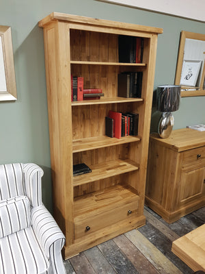 Wessex Tall Wide Bookcase with Drawer