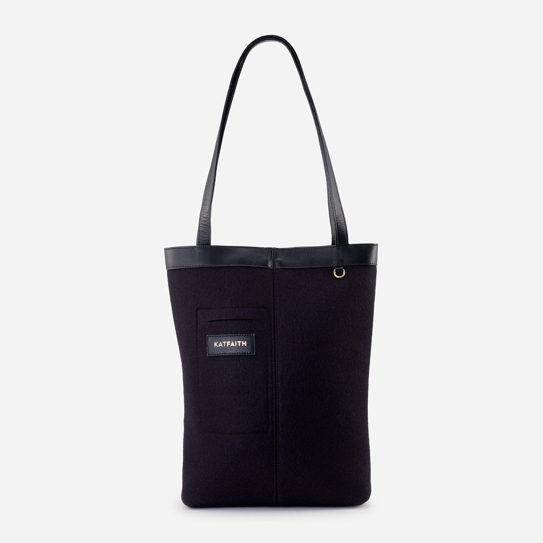 Rhea Black Tote - Kat Faith
