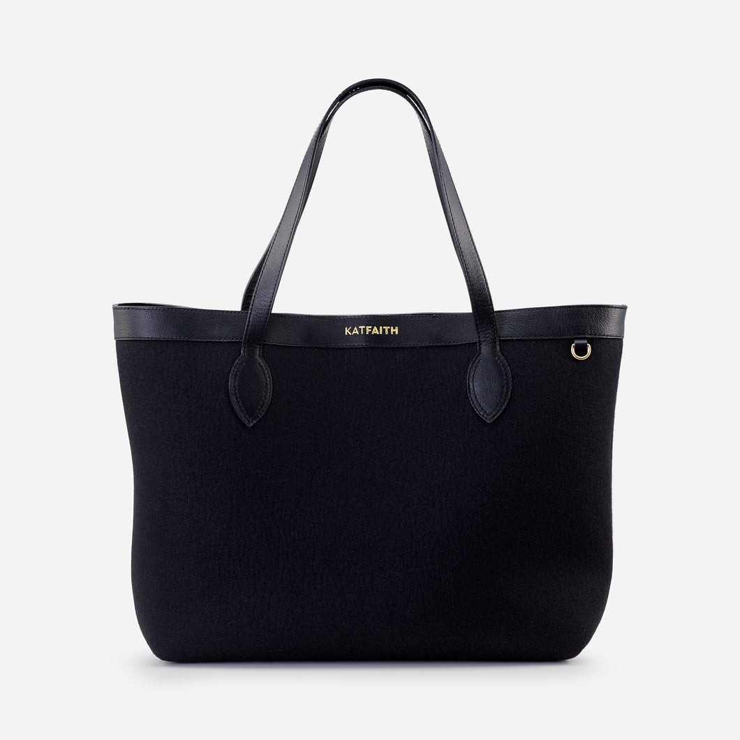 Theia Black Tote - Kat Faith