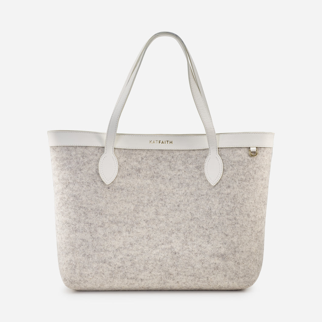 Theia White Tote - Kat Faith