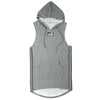 Knit Sleeveless Long Hoodie