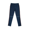 Woven Side Stripe Denim Jeggings