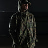 CAMO HOODED UTILITY JACKET