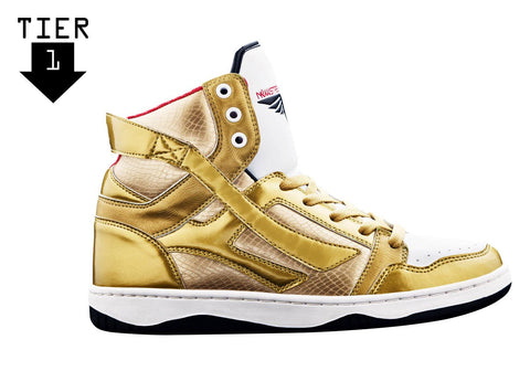 BEST SELLER! Novus Hi Tops [Gold]