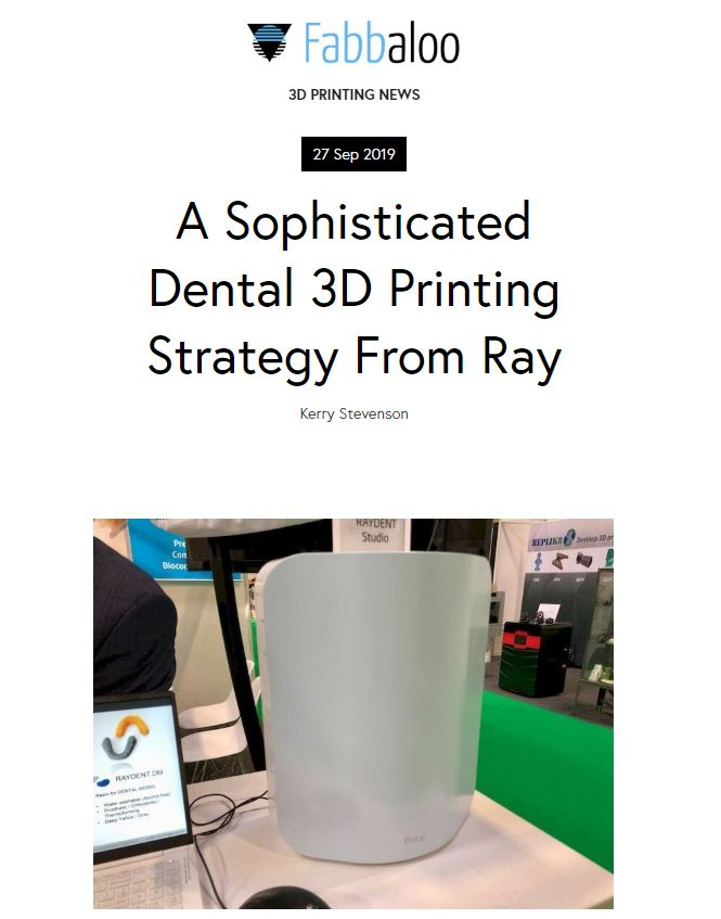 A Sophisticated Dental 3D Printing Strategy From Ray