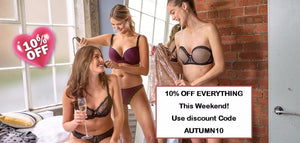 Get 10% off EVERYTHING this week - carefully selected designer bras, lingerie...