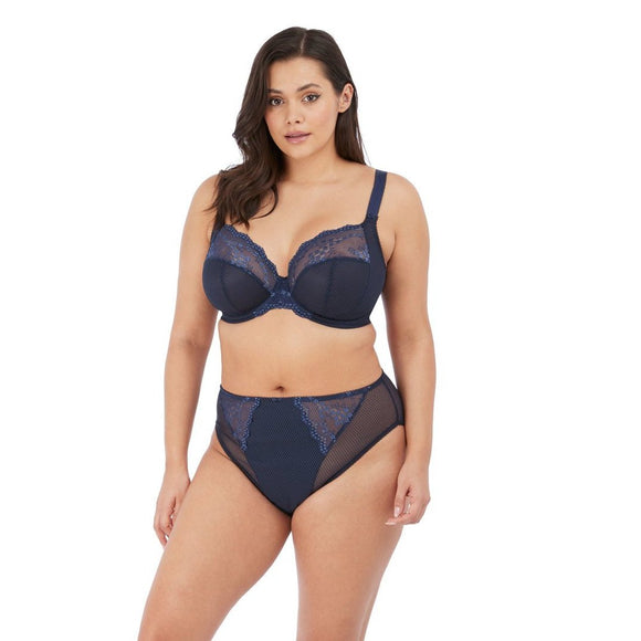 Elomi Charley Plunge Stretch Bra - Navy-Bras Galore - Lingerie and Swimwear Specialist