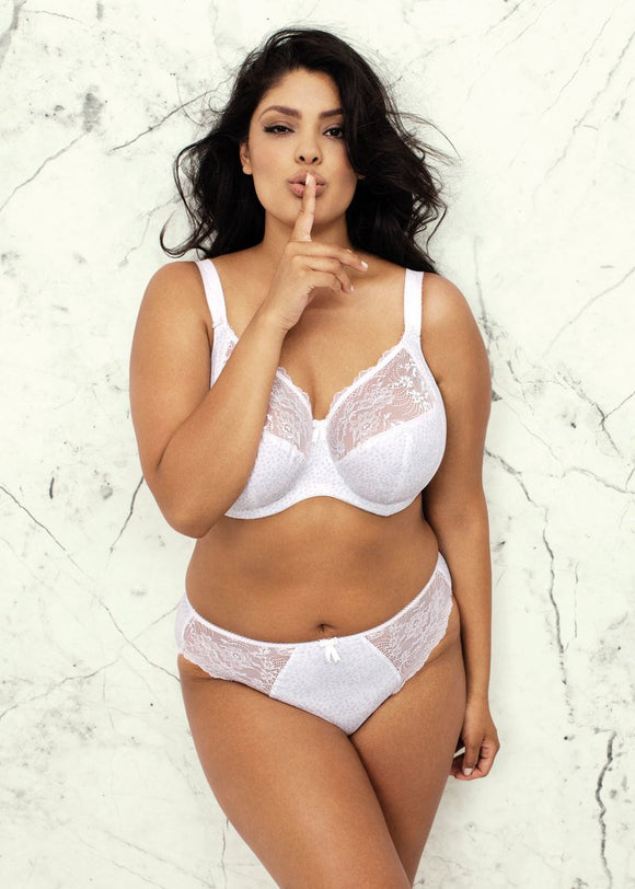 Elomi Morgan Banded Bra - White-Bras Galore - Lingerie and Swimwear Specialist