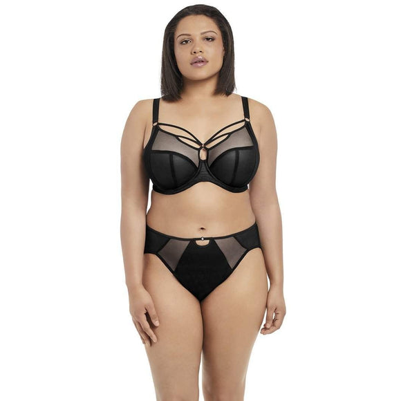 Elomi Sachi Classic Brief - Black-Bras Galore - Lingerie and Swimwear Specialist