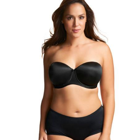 Elomi Smoothing Foam Moulded Strapless Bra - Black-Bras Galore - Lingerie and Swimwear Specialist