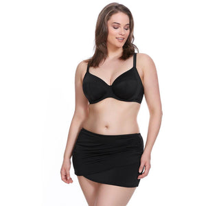 Elomi Swim Essentials Wrap Skirted Brief - Black-Bras Galore - Lingerie and Swimwear Specialist