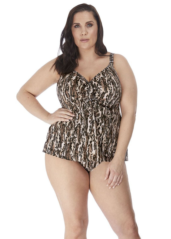 Elomi Swim Fierce Moulded Cup Tankini - Adjustable Neckline-Bras Galore - Lingerie and Swimwear Specialist
