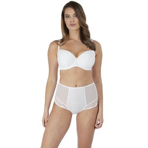 Fantasie Ana High Waisted Brief - White-Bras Galore - Lingerie and Swimwear Specialist