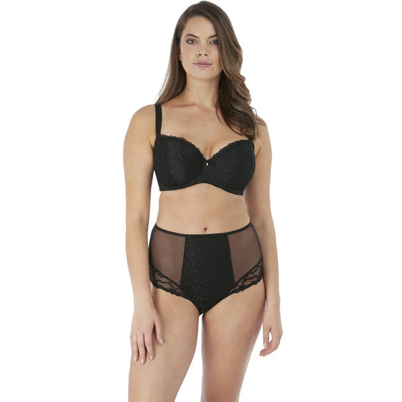 Fantasie Ana Padded Half Cup Bra - Black-Bras Galore - Lingerie and Swimwear Specialist