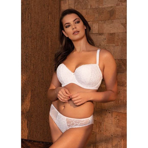 Fantasie Ana Padded Half Cup Bra - White-Bras Galore - Lingerie and Swimwear Specialist