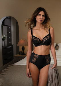 Fantasie Anoushka Side Support Plunge Bra - Black-Bras Galore - Lingerie and Swimwear Specialist