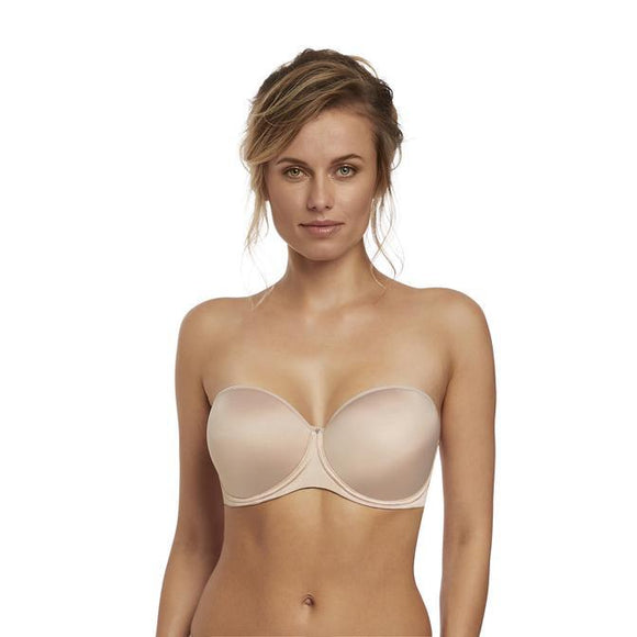Fantasie Aura Smoothing Moulded Strapless Bra - Nude-Bras Galore - Lingerie and Swimwear Specialist