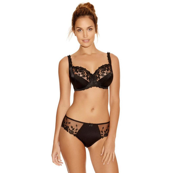 Fantasie Belle Balcony Bra - Black-Bras Galore - Lingerie and Swimwear Specialist