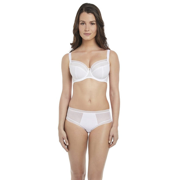 Fantasie Fusion Classic Brief & High Waisted Brief - White-Bras Galore - Lingerie and Swimwear Specialist