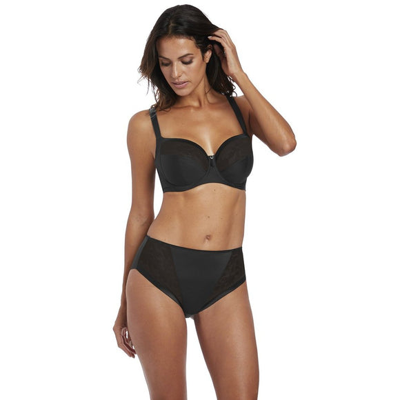 Fantasie Illusion Classic Brief - Black-Bras Galore - Lingerie and Swimwear Specialist