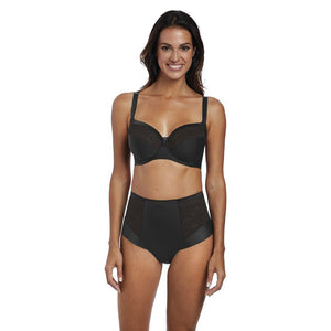 Fantasie Illusion High Waisted Brief - Black-Bras Galore - Lingerie and Swimwear Specialist
