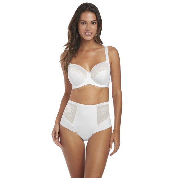 Fantasie Illusion High Waisted Brief - White-Bras Galore - Lingerie and Swimwear Specialist