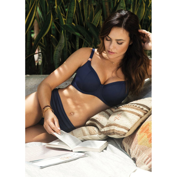 Fantasie Marseille Lightly Padded Balcony Bikini Top - Twilight-Bras Galore - Lingerie and Swimwear Specialist