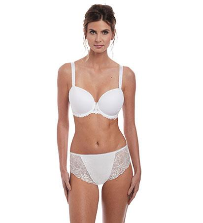 Fantasie Memoir Moulded T-Shirt Bra - White-Bras Galore - Lingerie and Swimwear Specialist