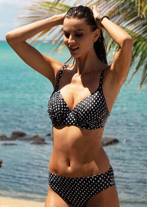 Fantasie Santa Monica Gathered Full Cup Bikini Top - Black-Bras Galore - Lingerie and Swimwear Specialist