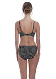 Fantasie Santa Monica Mid Rise Bikini Brief - Black-Bras Galore - Lingerie and Swimwear Specialist