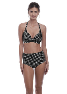 Fantasie Santa Monica Plunge Bikini Top - Black-Bras Galore - Lingerie and Swimwear Specialist