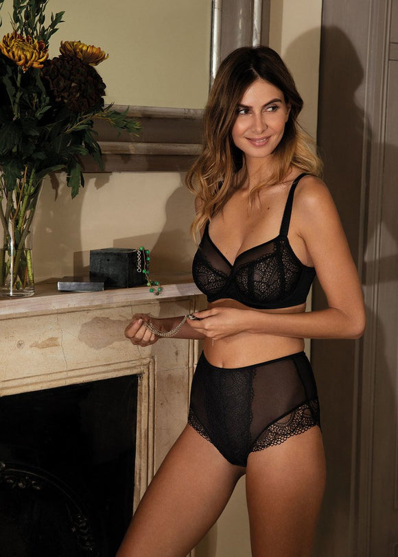 Fantasie Twilight Side Support Bra - Black-Bras Galore - Lingerie and Swimwear Specialist