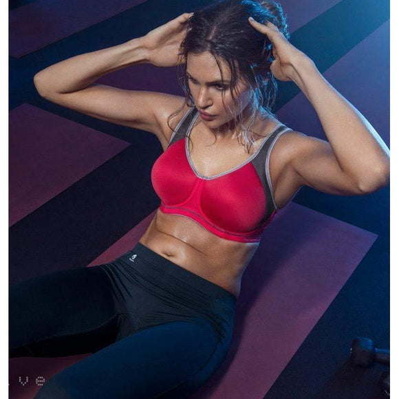 Freya Active Sonic Underwired Moulded Sports Bra - Crimson-Bras Galore - Lingerie and Swimwear Specialist