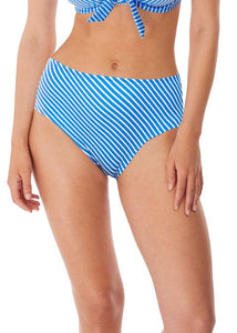 Freya Beach Hut High Waist/Leg Bikini Brief - Blue Moon-Bras Galore - Lingerie and Swimwear Specialist
