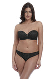Freya Cameo Deco Moulded Strapless Bra - Black-Bras Galore - Lingerie and Swimwear Specialist
