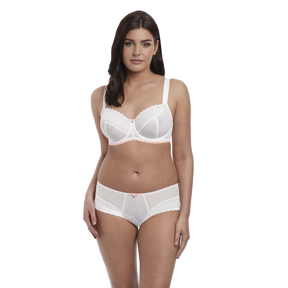 Freya Daisy Lace Balcony Bra - White-Bras Galore - Lingerie and Swimwear Specialist