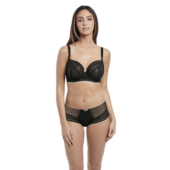Freya Daisy Lace Brazilian, Brief & Short - Black-Bras Galore - Lingerie and Swimwear Specialist