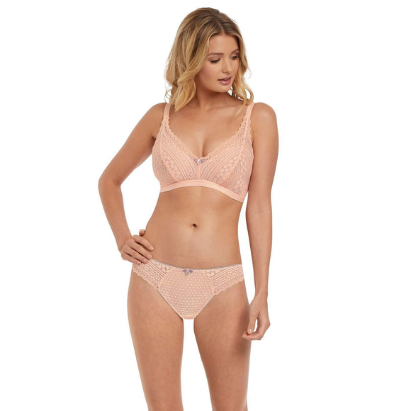 Freya Daisy Lace Soft Cup Bralette - Blush-Bras Galore - Lingerie and Swimwear Specialist