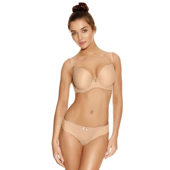 Freya Deco Moulded Plunge Bra - Nude-Bras Galore - Lingerie and Swimwear Specialist