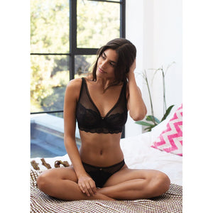 Freya Expression High Apex Bra - Black-Bras Galore - Lingerie and Swimwear Specialist