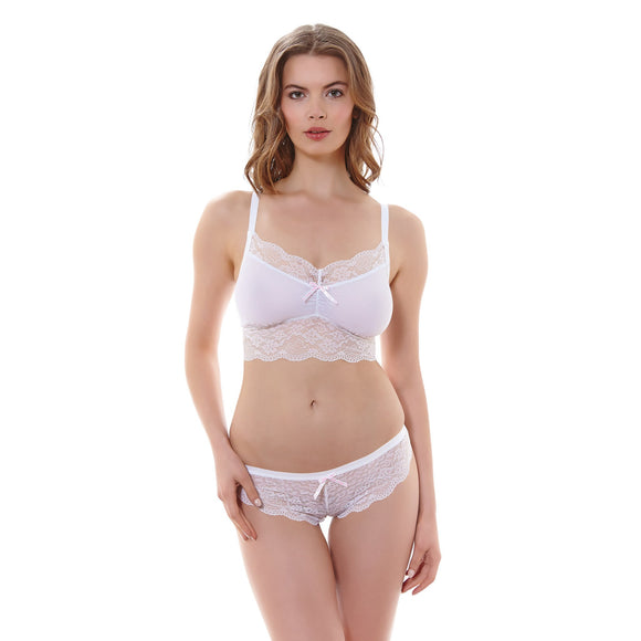 Freya Fancies Bralette - White-Bras Galore - Lingerie and Swimwear Specialist