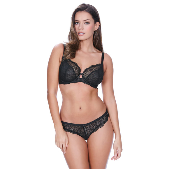 Freya Fancies Brazilian Thong - Black-Bras Galore - Lingerie and Swimwear Specialist