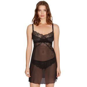 Freya Fancies Chemise - Black-Bras Galore - Lingerie and Swimwear Specialist