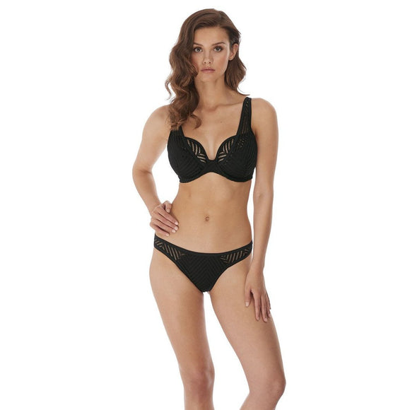 Freya Urban Night Brazilian Bikini Brief - Black-Bras Galore - Lingerie and Swimwear Specialist