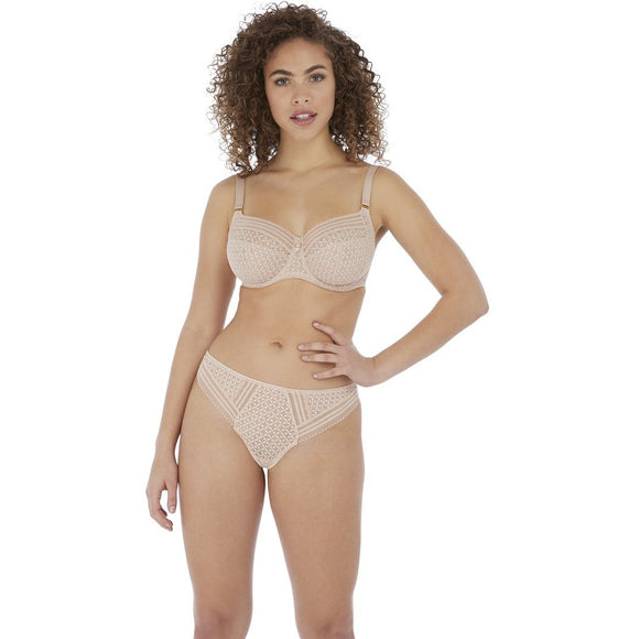 Freya Viva Lace Short & Brazilian - Natural Beige-Bras Galore - Lingerie and Swimwear Specialist