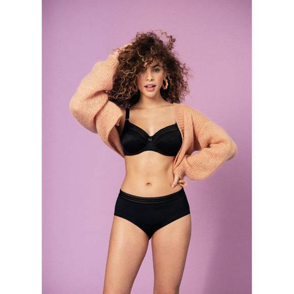 Freya Viva Side Support Balcony Bra - Noir Black-Bras Galore - Lingerie and Swimwear Specialist