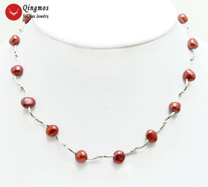 Chic Floating Freshwater Pearl Necklace set in 925 Sterling Silver