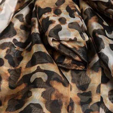 Load image into Gallery viewer, Leopard-print Chiffon Oversized Sleeves Blouse