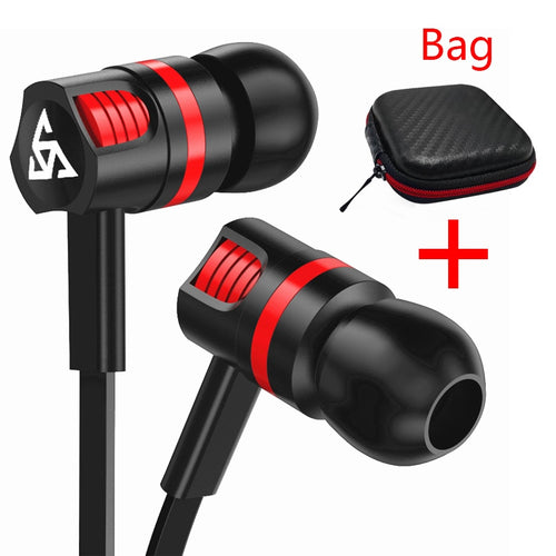 Professional Earphone Super Bass Headset with Microphone Stereo Earbuds