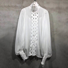 Load image into Gallery viewer, Exquisite Cutout Lacework Women's Blouse